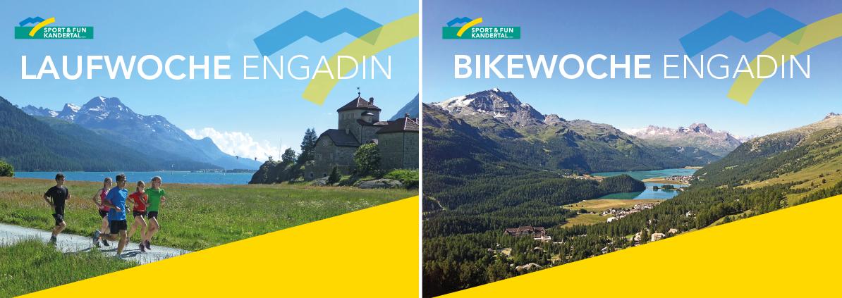 Laufwoche und Bikewoche im Engadin mit Sport&Fun Kandertal