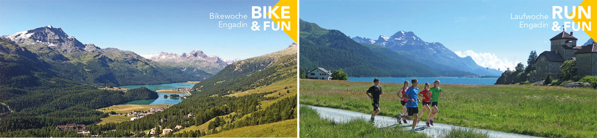 Sport and Fun: Lauf- und Bikewoche Engadin