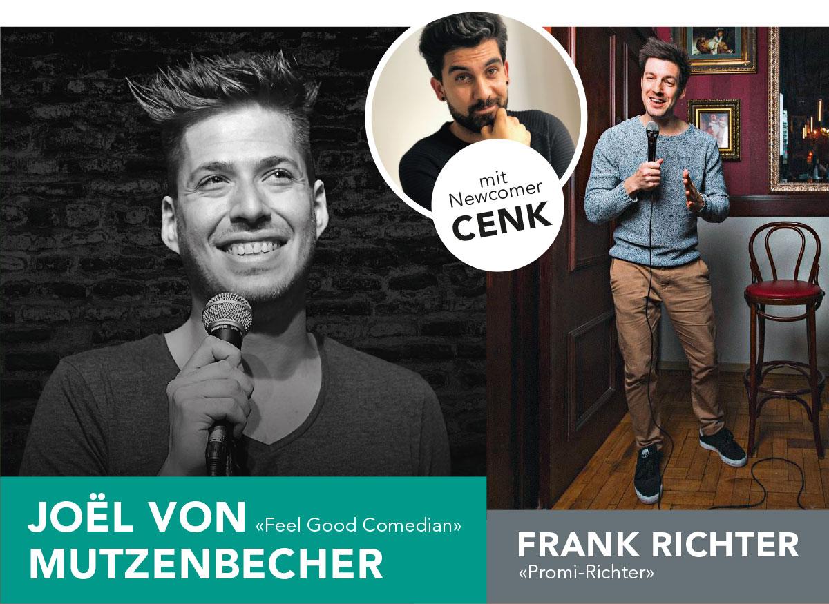 SLF Comedy, Reichenbach: Joël von Mutzenbecher, Frank Richter und Cenk